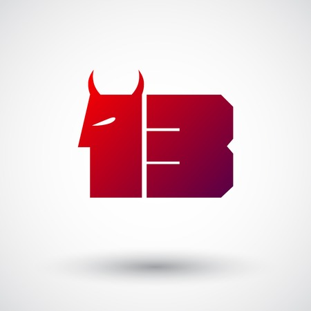 friday 13: Red thirteen symbol with horns.