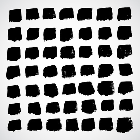 pictured: Abstract vector hand-painted square backgrounds Illustration