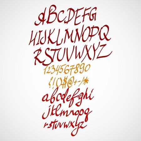 scamp: Vector hand drawn alphabet Illustration