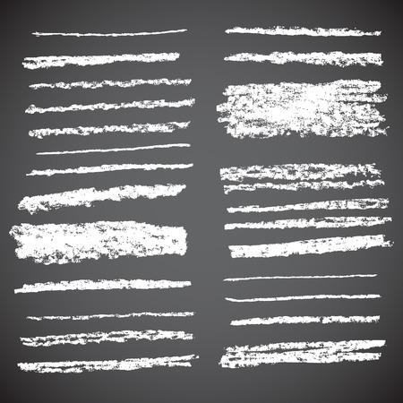 dibujos lineales: Vector Tiza Líneas. Dibujado a mano ilustración. Vectores
