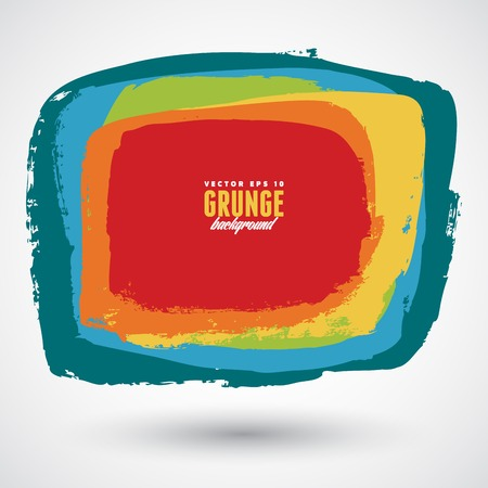 Grunge colorful banner