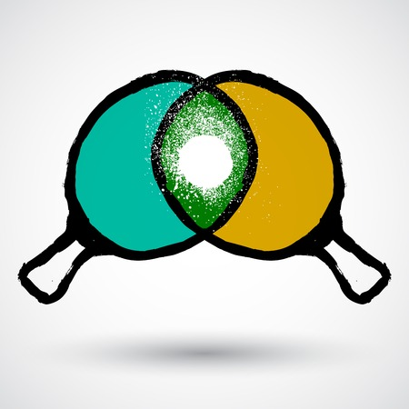pong: Ping pong rackets grunge icon