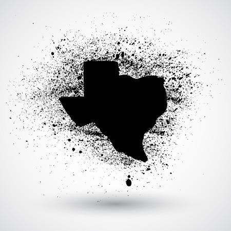 Grunge Texas Vector