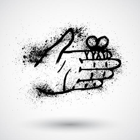 maim: Bandage finger grunge icon