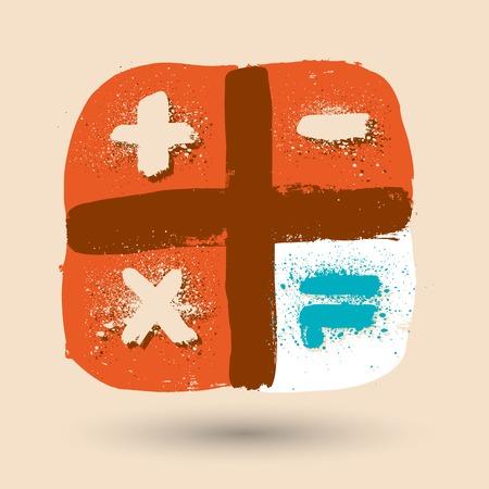 calculator icon: Grunge calculator icon