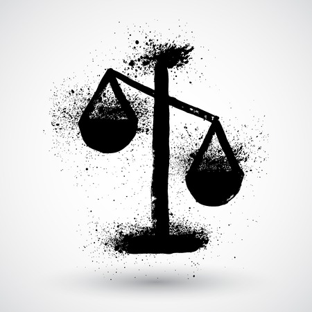 scale of justice: Justice scale symbol,vector