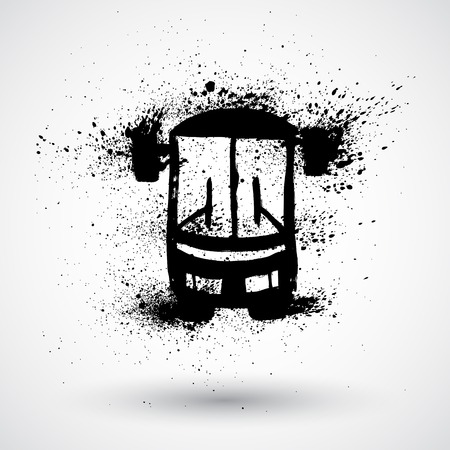 Grunge bus icon Vector