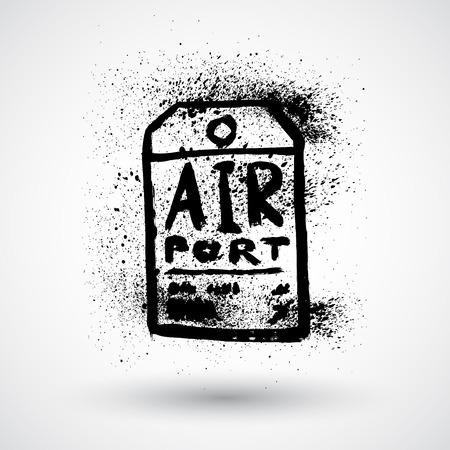 luggage tag: Grunge Luggage Tag Icon
