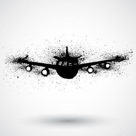 takeoff: Plane grunge icon