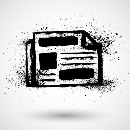 10eps: Grunge newspaper icon