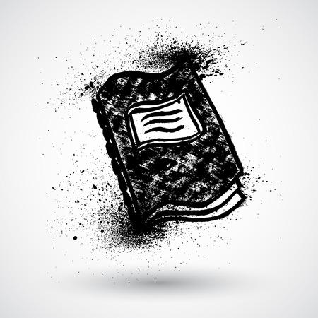spiral binding: Grunge Notebook illustration Illustration