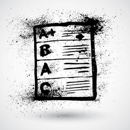 Grunge hand drawn vector grades icon Vector