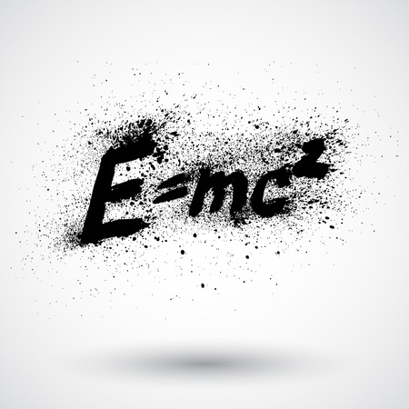 mc2: Theory of relativity by Albert Einsteins grunge sign