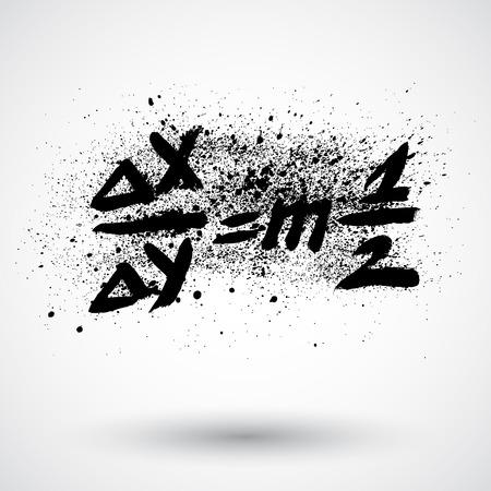 trigonometry: Grunge math formula icon Illustration