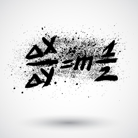 Grunge math formula icon 向量圖像