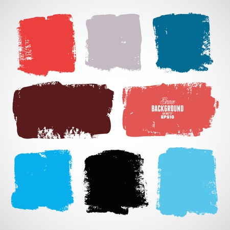 grunge brush: Grunge colorful background Illustration