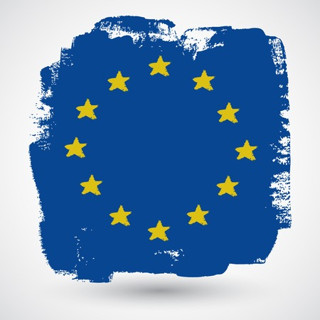 evropský: European grunge flag