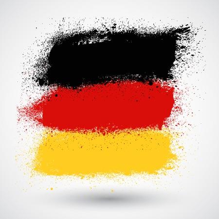 brushstroke: Brushstroke flag Germany
