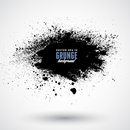 dripping paint: Grunge splash banner
