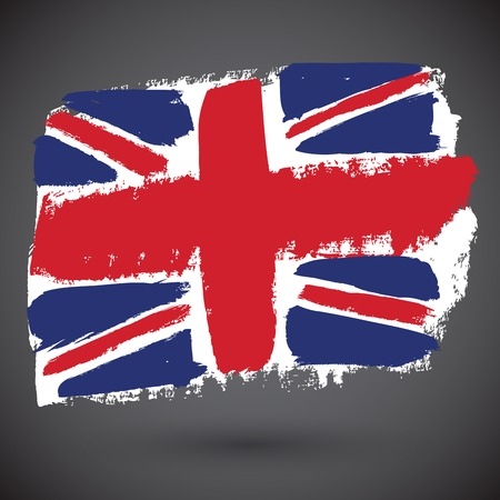 europe closeup: Vector grunge styled flag of great britain