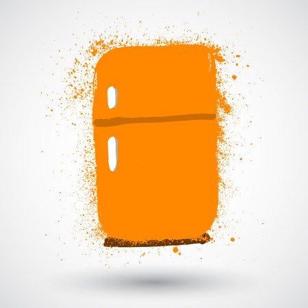 refrigerator: Grunge refrigerator