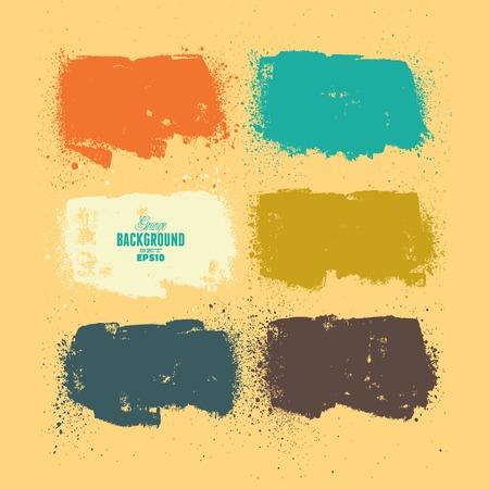 website layout: Summer Style Grunge Banners Illustration