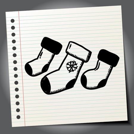 christmas socks: Doodle Christmas socks