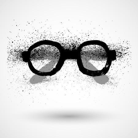 eyeglasses: Eyeglasses Sign, grunge Illustration