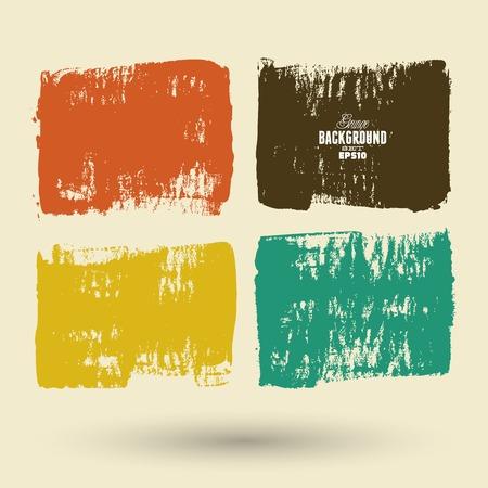 grungy header: Summer Style Grunge Banners Illustration