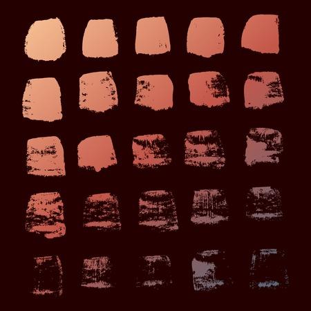 Grunge ink hand-drawn squares