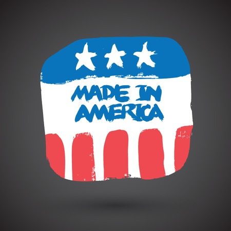 imperfections: Made in USA retro sign