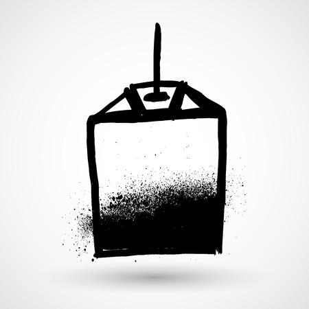 ceylon: Tea bag grunge icon Illustration