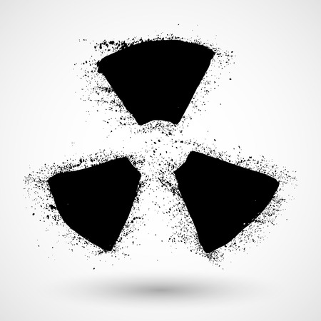 radiation sign: Grunge Radiation sign