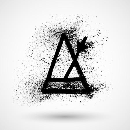 metronome: Icona grunge Metronome