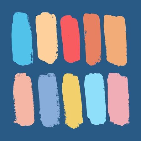 Brush Strokes - Set - Isolated On White Background - Vector Illustration, Graphic Design Editable For Your Design Illustration