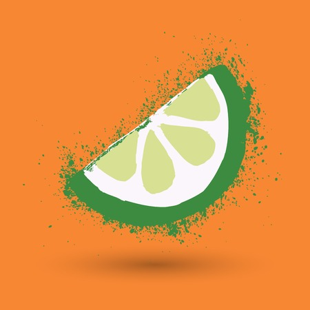painterly effect: Grunge illustration of Lime