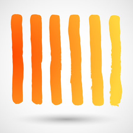 Brush Strokes - Set - Isolated On White Background - Vector Illustration, Graphic Design Editable For Your Design Illustration