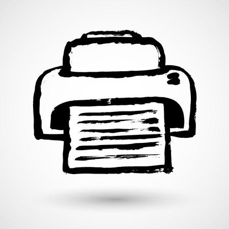 Printer icon design Illustration