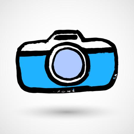 Camera grunge icon Illustration