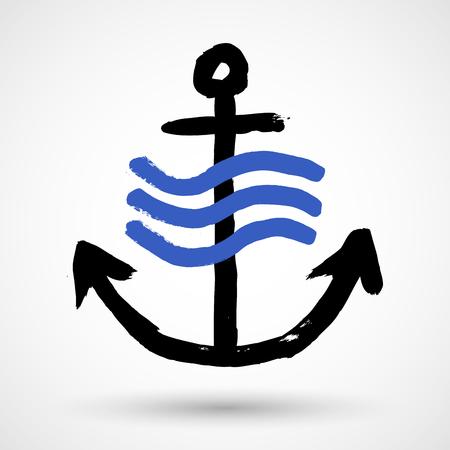 Grunge anchor
