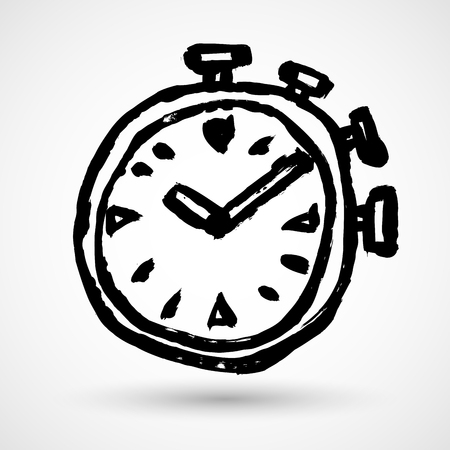 Stopwatch Vector grunge sketch