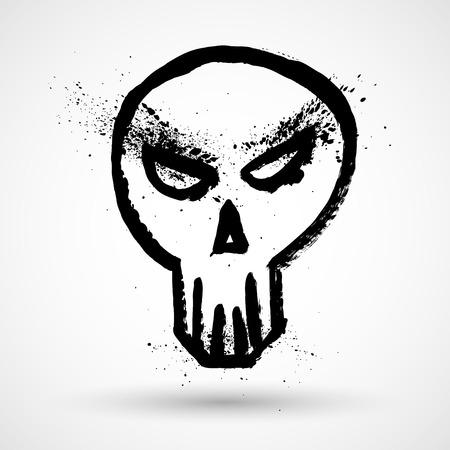 horrifying: Grunge skull