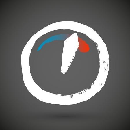 speed: Vector grunge speed icon Illustration