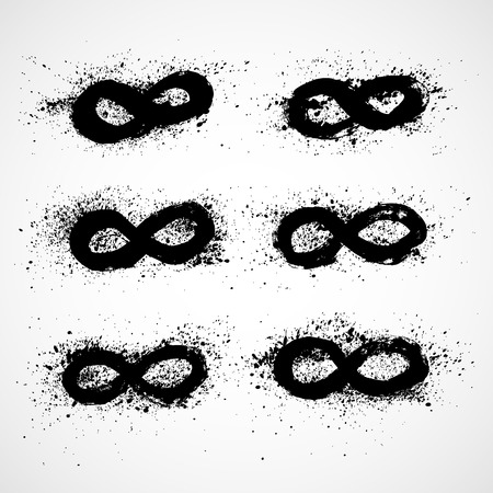 reverberation: Infinity symbol. Vector set