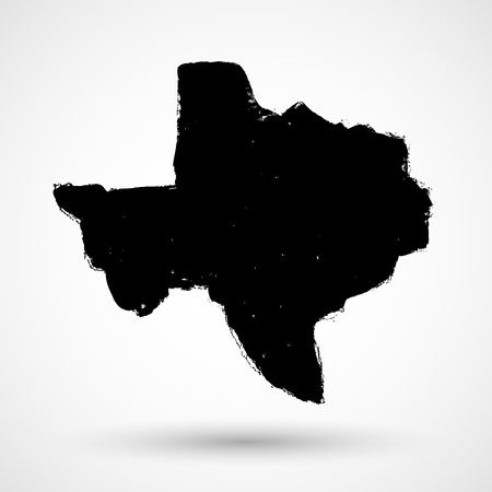 solitary: Texas USA State Creative Vector Concept