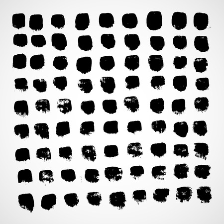 shadowed: Square. The simple geometric pattern of black squares with shadowed frame. Set of dot patterns. Halftone pattern for the posters, banners, leaflets, flayers, presentations,