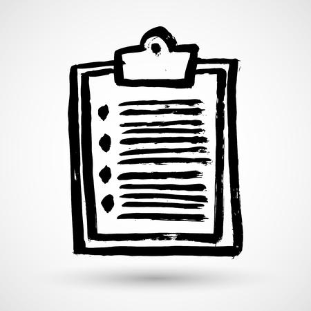 Grunge list clipboard icon