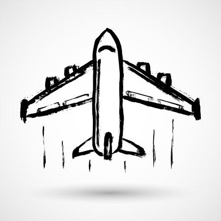 passenger transportation: Plane vector icon