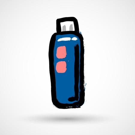Usb flash drive web icon Illustration