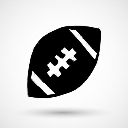 team game: American football ball - vector icon